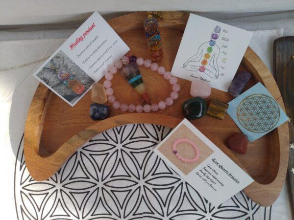 Healing crystal stones kit